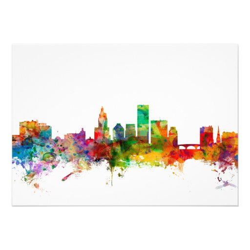 Providence Rhode Island Skyline Personalized Invitations