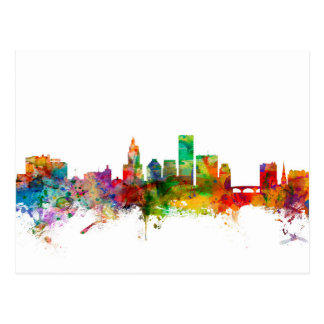 Providence Rhode Island Skyline Postcard