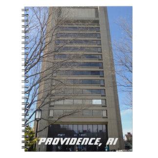 Providence, RI Brutalist Architecture Spiral Note Book