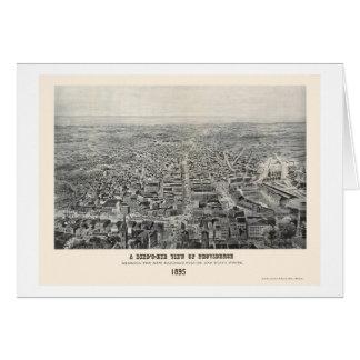 Providence, RI Panoramic Map - 1894 Greeting Card