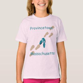 Provincetown, Massachusetts Flip-Flops Girls' T-Shirt