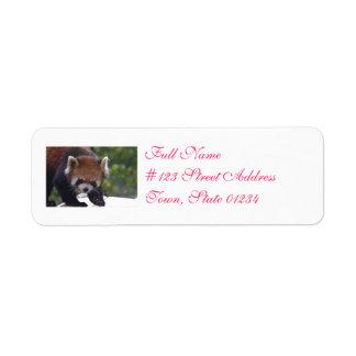 Prowling Red Panda Return Address Label