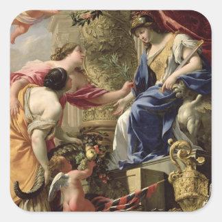 Prudence Leading Peace and Abundance, c.1645 (oil Sticker