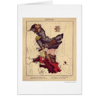 Prussia Caricature Map 1868 Card
