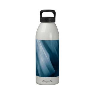 Prussian Blue Abstract Motif Water Bottles