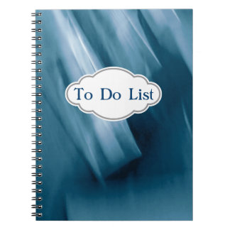 Prussian Blue Abstract Personalized Note Books