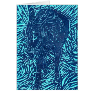 Prussian Blue Buford Card
