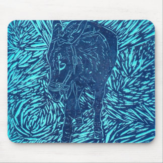 Prussian Blue Buford Mouse Pad
