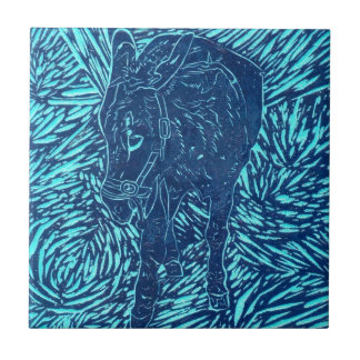 Prussian Blue Buford Small Square Tile