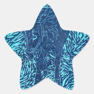 Prussian Blue Buford Star Sticker