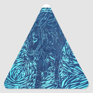 Prussian Blue Buford Triangle Sticker