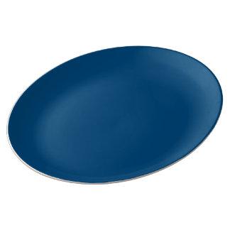 Prussian Blue colored Porcelain Plates
