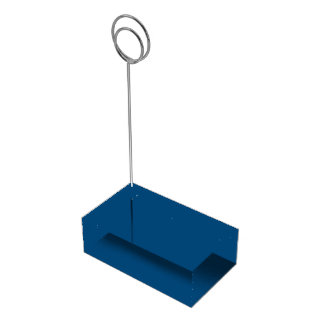 Prussian Blue colored Table Card Holder