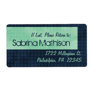 Prussian Blue Urban Chic Property Labels
