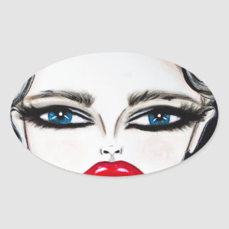 Prussian Blue - Wendy Buiter - 2016 Oval Sticker