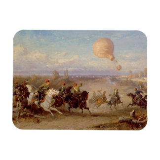 Prussian Hussars firing at a French Observation Ba Magnet