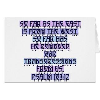 Psalm 103:12 card