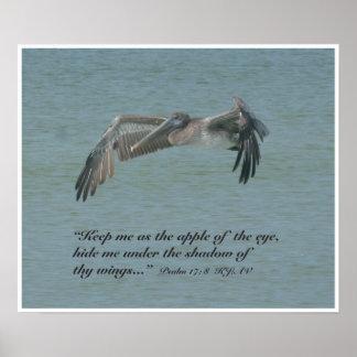 Psalm 17:8 Scripture Print, Version B Poster