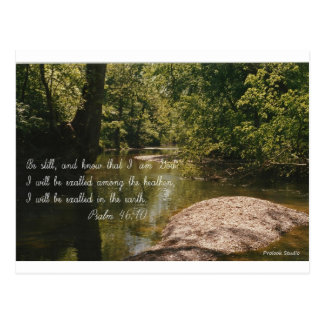 """Psalm 46:10 with image titled """"SERENITY'S EYE"""" Postcard"""