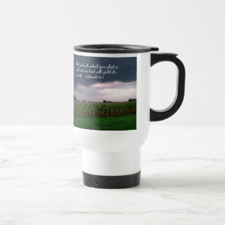 Psalm 85:12 The Lord will indeed give... Travel Mug