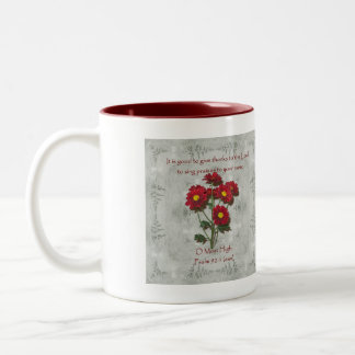 Psalm 92:1 ~ Give Thanks to the Lord Two-Tone Coffee Mug