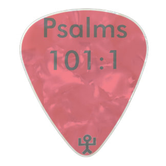 Psalms 101:1 pearl celluloid guitar pick