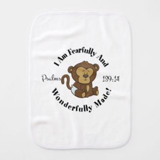Psalms 139:14 Design for babies and young children Burp Cloths
