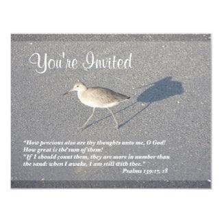 "Psalms 139:17-18 4.25"" x 5.5"" invitation card"
