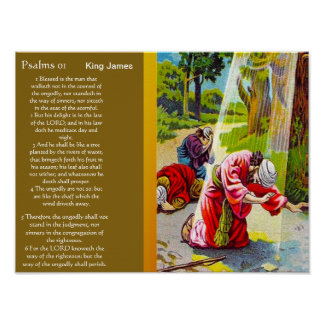 Psalms chapter 01 Posters 2