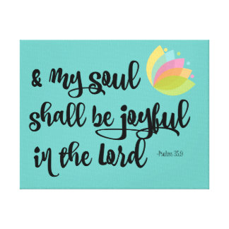 Psalms Joy Bible Verse Typography Canvas Print
