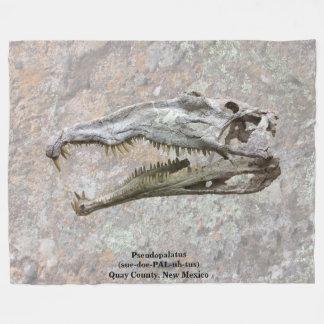 Pseudopalatus - Fossil - Quay County, New Mexico Fleece Blanket