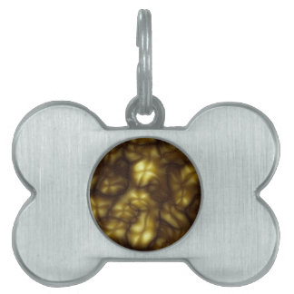 Psychedelic #11 White and gold - Cool psychedelic Pet Name Tag