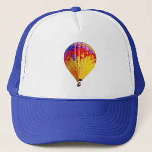 Psychedelic Abstract Flying Hot Air Balloon Trucker Hat