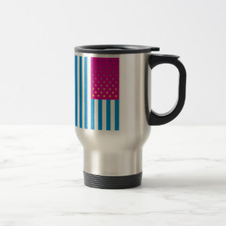 Psychedelic American Flag Stainless Steel Travel Mug