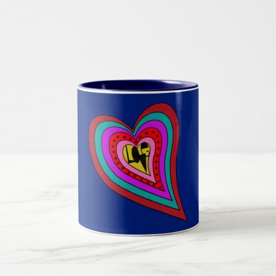 Psychedelic Art Love Heart Mug