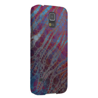 Psychedelic Blue Red Zebra Galaxy S5 Cover