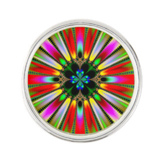 Psychedelic Burst of Color Lapel Pin