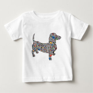 Psychedelic Cheetah Doxie Baby T-Shirt