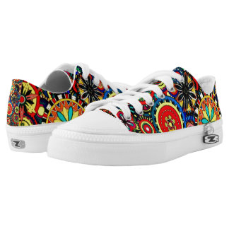 Psychedelic Cogs Custom Zipz Low Top Kickers Printed Shoes