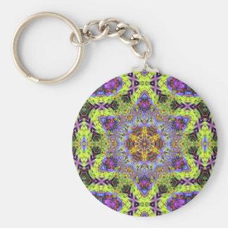 Psychedelic Dude Hexagram Version 2  Keychain