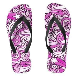Psychedelic Groovy Girl Sandals