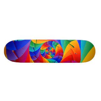 Psychedelic Rainbow Spiral Skateboard Deck