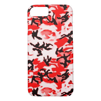 Psychedelic Red Camo iPhone 8/7 Case