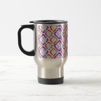 Psychedelic rhombuses stainless steel travel mug