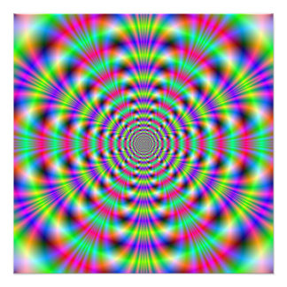 Psychedelic Rings  Photo Print