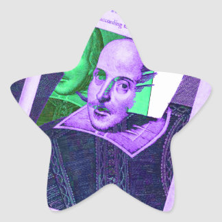 Psychedelic Shakespeare 1623 Star Sticker