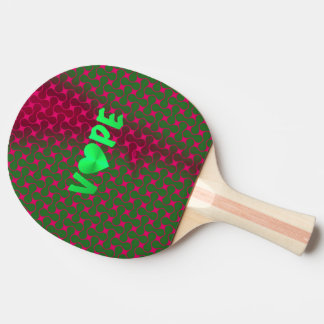 Psychedelic Spearmint Pink Retro Vape Heart Ping Pong Paddle