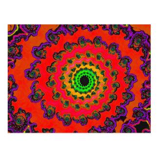 Psychedelic Spiral Fractal 2 Postcard
