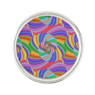 Psychedelic spiral lapel pin