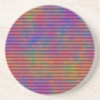 Psychedelic Stripes - Colorful Striped Abstract Coaster